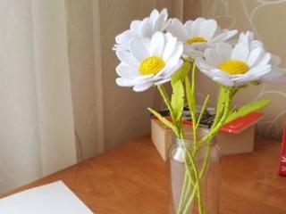 How to make FELT DAISY flowers. Ромашки из фетра. Irina Sharova