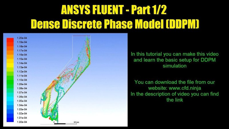 ANSYS FLUENT Tutorial Dense Discrete Phase Model DDPM Part 1 2