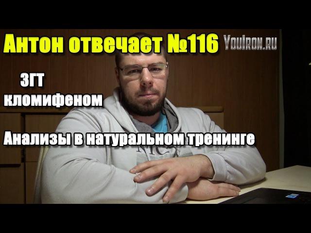 Антон Отвечает №116 ВЕЧНЫЙ КУРС КЛОМИФЕНА ВАЖНЫЕ АНАЛИЗЫ В НАТУРАЛЬНОМ ТРЕНИНГЕ