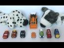 Мультик с игрушками про машинки - Трактор Рома едет в гости к щенкам
