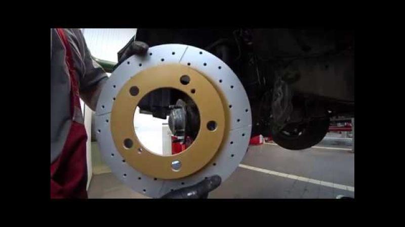 Тойота Центр Люберцы LC200 LC150 LC120 Замена передних тормозных дисков