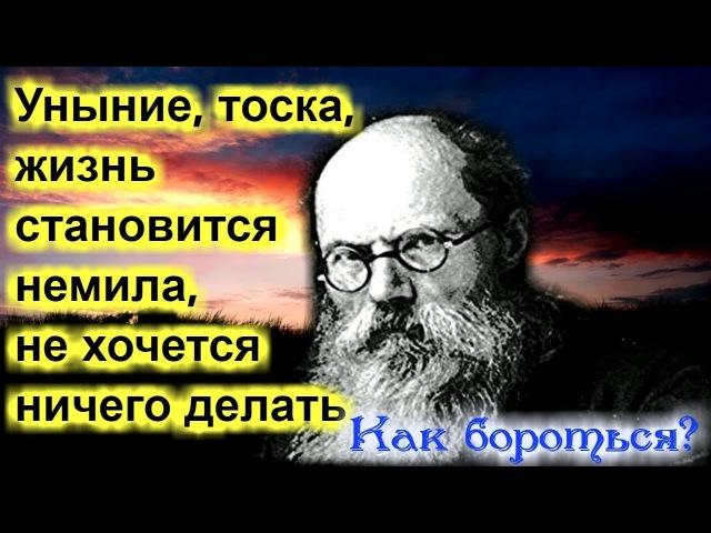 Уныние отчаяние тоска Как избавиться Игумен Никон Воробьев