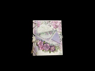 MINI ALBUM TUTORIAL PART 1 LILAC FLOWERS BY SHELLIE GEIGLE JS HOBBIES AND CRAFTS