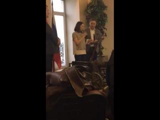 Вручение премии Аврора 1 степени команде депутата Драпеко 10 февраля 2017