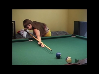 Yulia Nova playing pool