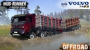 Spintires MudRunner VOLVO FMX 10X8 TANDEM Timber Truck Stuck in the Mud