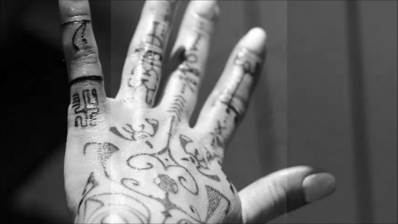 Katy. Polynesian tattoo by Rinline. Freehand