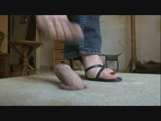Hard cock trample / foot fetish