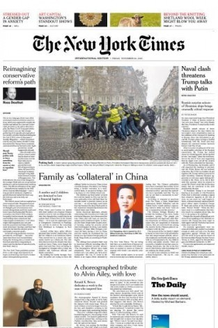 International New York Times - 30 November 2018