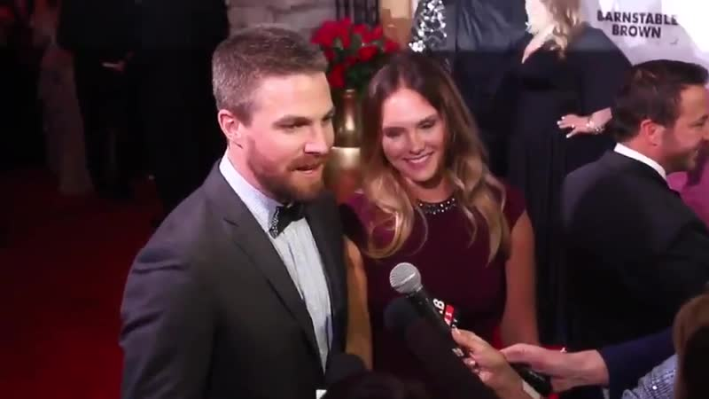 Talking Derby at the Barnstable Brown 2019 party with Stephen Amell