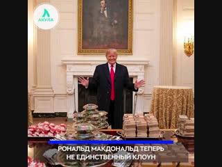 Трамп устроил фуршет с бургерами | АКУЛА