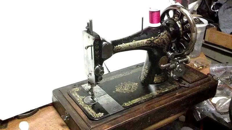 Rare Antique 1901 Singer 28k Victorian Handcrank Treadle Sewing Machine P646516