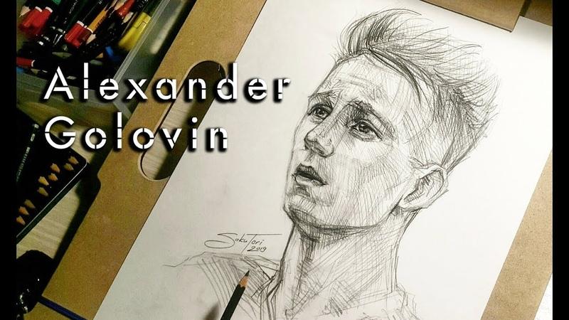 Александр Головин (Alexander Golovin) рисунок карандашом by SakuTori