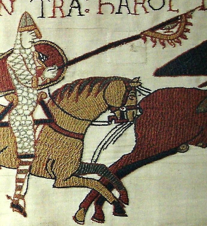 Знамя ворона. Деталь нормандского гобелена из Байё XI век