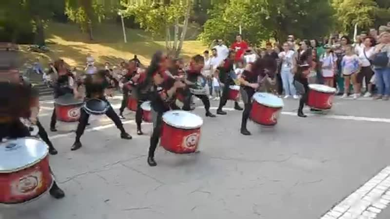 Batucada spectacol de percuție 4 Compania Aainjaa, Colombia in Romania (2)
