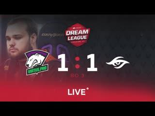 Virtus.pro 1:1 team secret, dream league major lb round 5