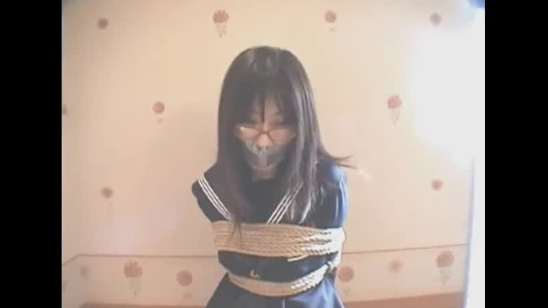 Japanese school girl tape gagged