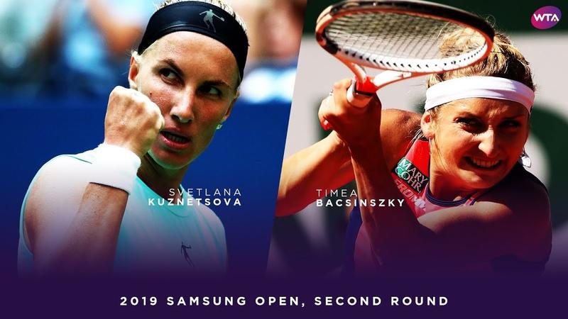 Svetlana Kuznetsova vs Timea Bacsinszky 2019 Samsung Open Second Round WTA Highlights