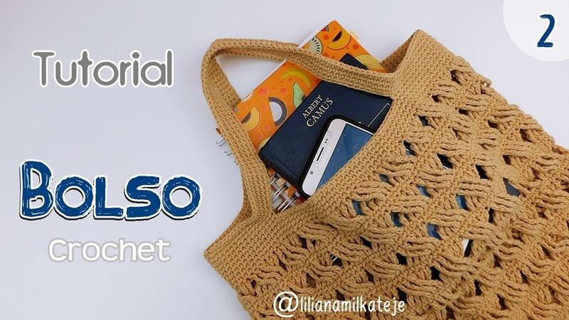 Tutorial bolso de compras a crochet ganchillo Paso a paso Parte 2