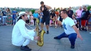 Wake me Up💃 [with 2 EPIC DANCERS ] STREET SAX PERFORMANCE