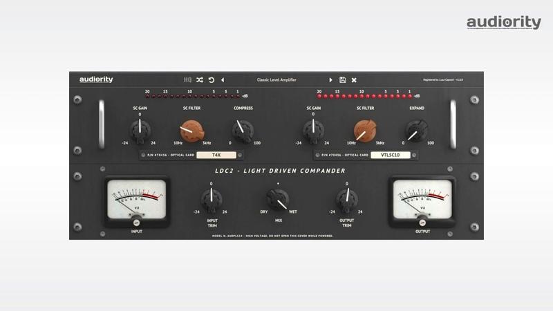 Audiority LDC2 Light Driven Compander Compressor Expander Quick Demo