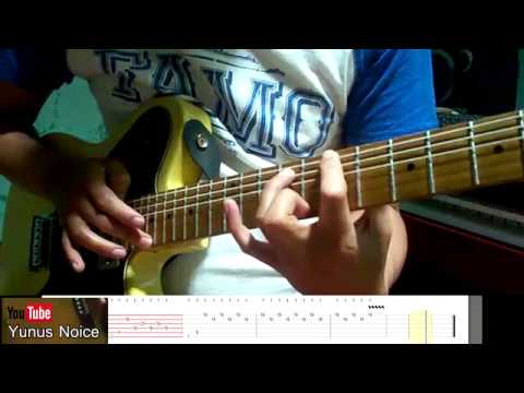 TAPPING DELAY GUITAR clean with TAB