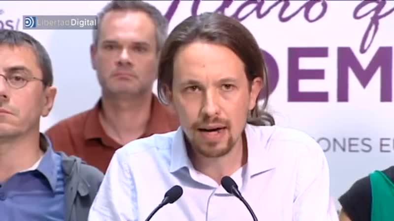 Pablo Iglesias: Todavía no hemos acabado con la casta política (26/05/2014)