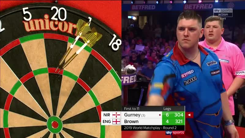 2019 World Matchplay Round 2 Gurney vs Brown
