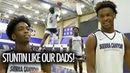 Bronny James Zaire Wade Re-Enact Their Dads Famous Photo!