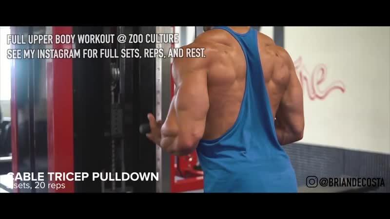 Upper Body Pump Workout Brian DeCosta
