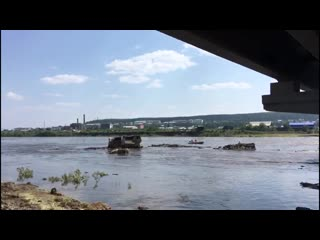 4 июля, устранение затора на реке Ия, город Тулун, Байкальский ПСО МЧС РФ