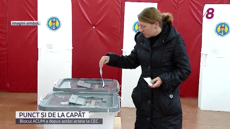 CEC a înregistrat Blocul electoral ACUM DA PAS