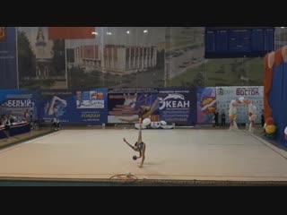 Полина Орлова - мяч (многоборье) // Первенство МО 2019, Орехово-Зуево