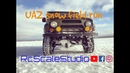Rcscalestudio 1 8 scale rc off road car UAZ snow field run with rc4wd gelande 2 chasis
