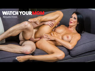 Reagan Foxx - Watch Your Mom [NaughtyAmerica] Big Tits, Blowjob, Brunette, Milf, Mom, Incest