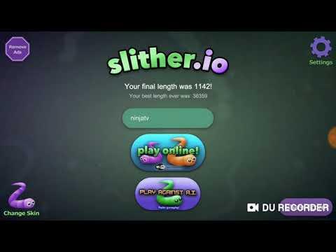 Slither.io 1 Игра про Червяка! Вырастили огромного Червя!