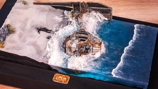 Создание реалистичного моря из эпоксидной смолы // Звездные войны
