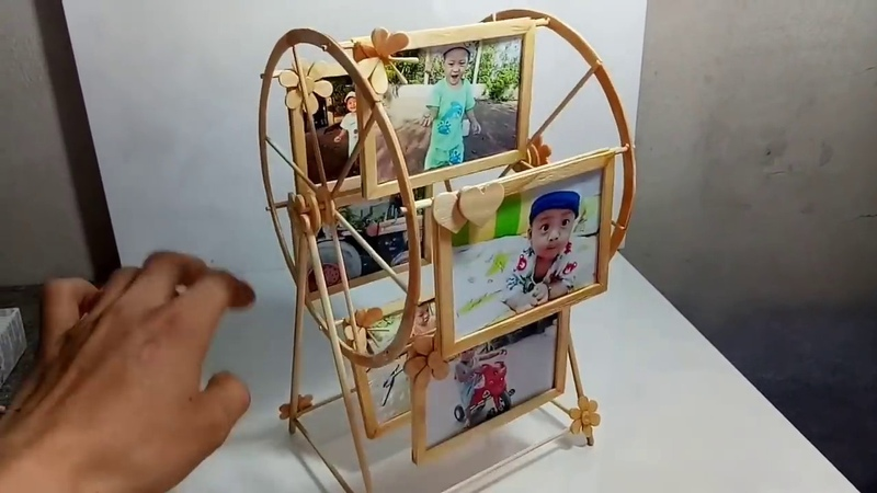 DIY! Useful Diy Ideas - Make a windmill photo frame with an ice cream stick | T-IDEAS