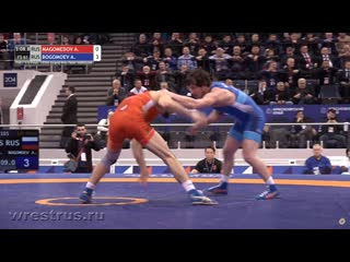 Ярыгин-2020. 1/2. 61 кг. Александр Богомоев (Бурятия) - Абасгаджи Магомедов (Дагестан) 3-0