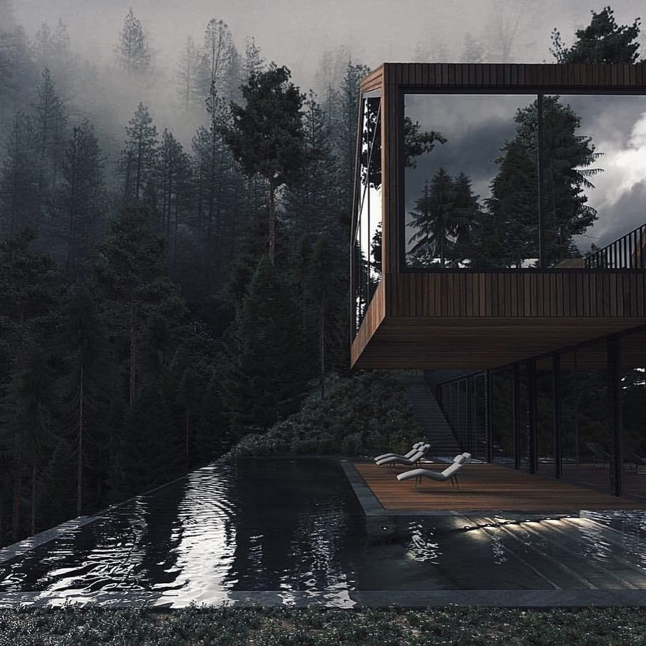 Forest House is designed and visualized by U-STYLE — Dinara Yusupova and is located in Ukraine