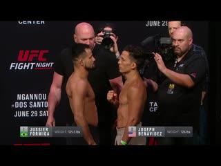 Взвешивание UFC Миннеаполис: Джуссиер Формига vs Джозеф Бенавидес