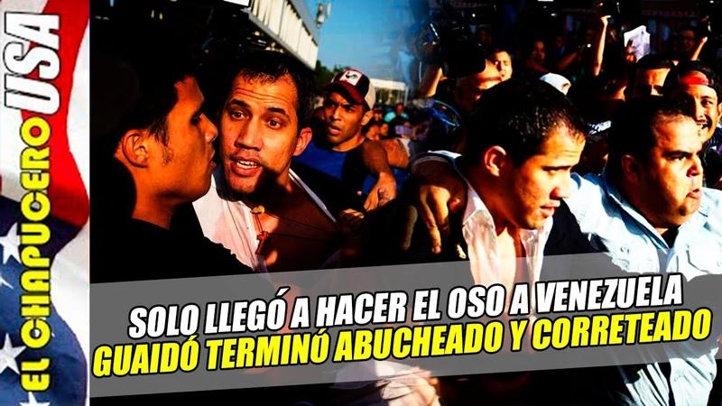 Arriba Guaidó a Venezuela ¡y recibe duros reclamos en el aeropuerto Otro OSO MUNDIAL