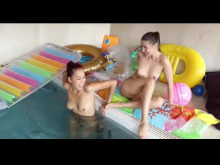 Paula Shy and Sybil A - Sexy Pool Play Lesbian