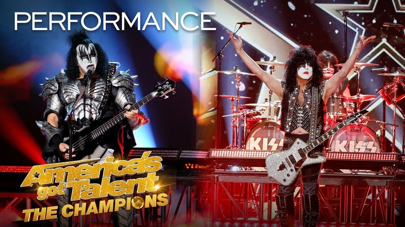 KISS Performs Rock and Roll All Nite LIVE America's Got Talent The Champions