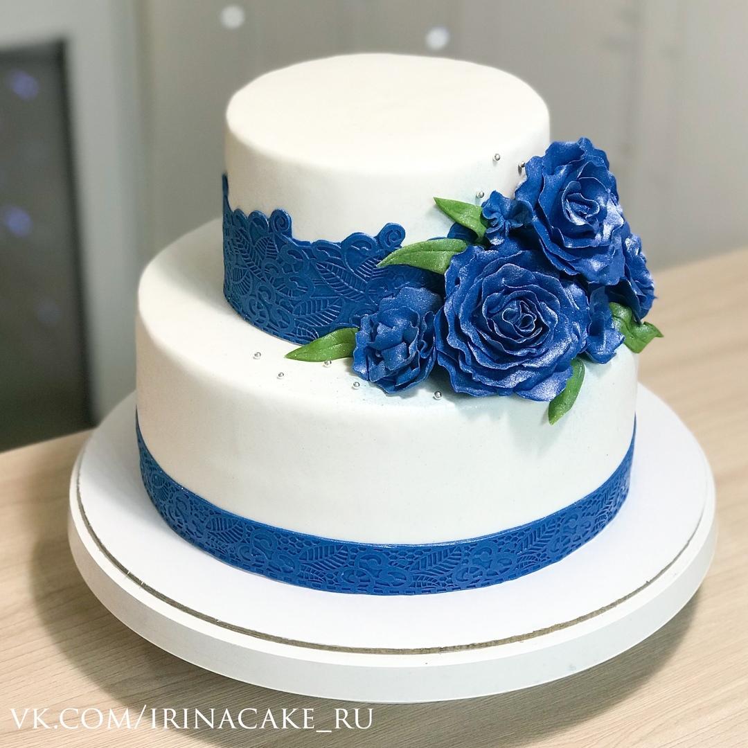 Синий свадебный торт (Арт. 536)