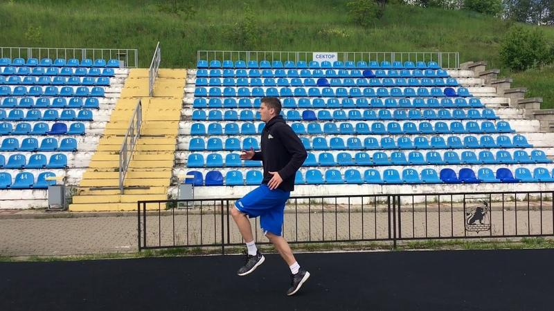 Беговая разминка. Running warm-up.
