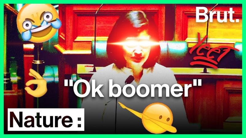 Interrompue par un parlementaire plus âgé elle répond Ok boomer