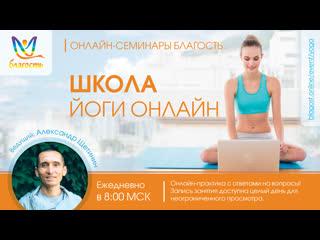 Занятие Йога онлайн Благость с Александром Щетининым. Комплекс йоги Айенгара.
