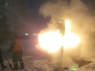 Аварийный работы на Комсомольской