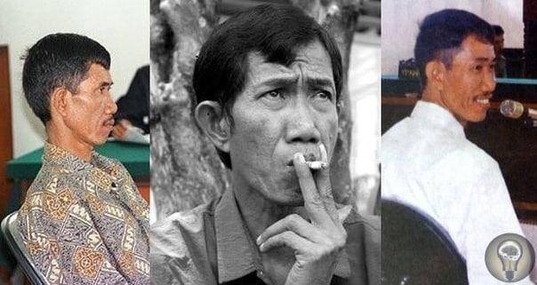Ахмад Сураджи индонезийский маньяк, убивший сорок две женщины. Убивал он весьма оригинальным способом. Ахмад закапывал жертву по горло в землю, после чего душил куском кабеля и выпивал